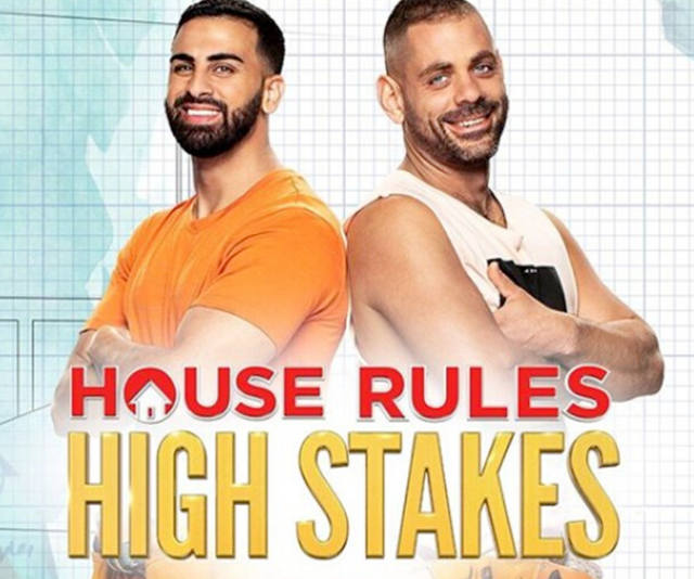 """**Laith, 29, and George, 30** <br><br> Mates Laith and George both live with their parents, but agree it's time to move out. Leith, a a lawyer, and George, a builder, think they can win *House Rules* while cracking jokes en route. <br><br> """"We're always having a laugh,"""" George says"""