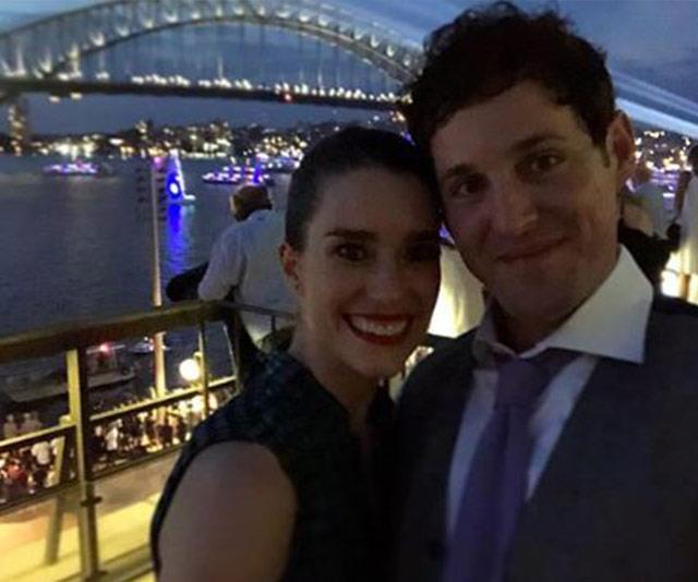 Date night! A dapper Lachy and glamorous Dana enjoy a romantic evening out in Sydney.