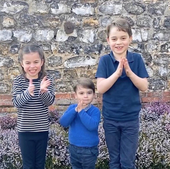 The Cambridge children melted hearts in the sweet video - but can you spot how Prince Louis broke royal protocol?