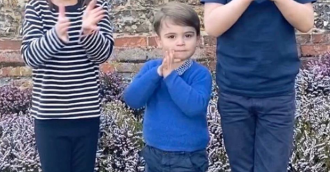 The Cambridges broke a significant piece of royal protocol in that clapping video - and it was all about Prince Louis' trousers