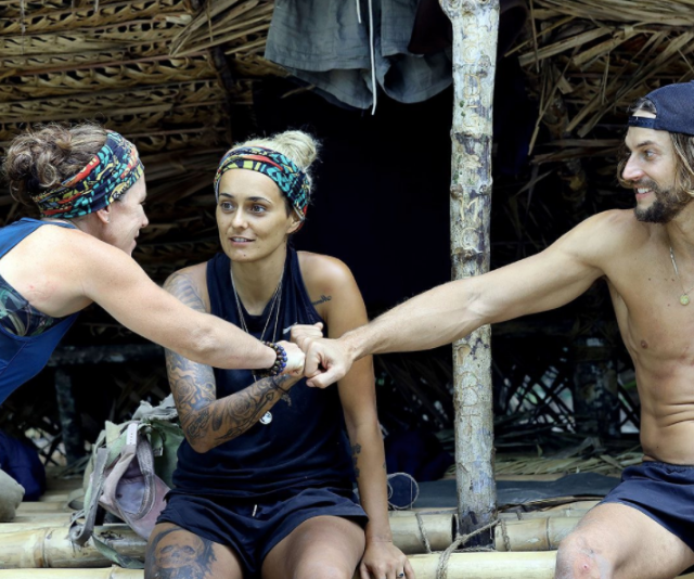 The final three and one of the show's strongest alliances: Mo, Sharn and David.