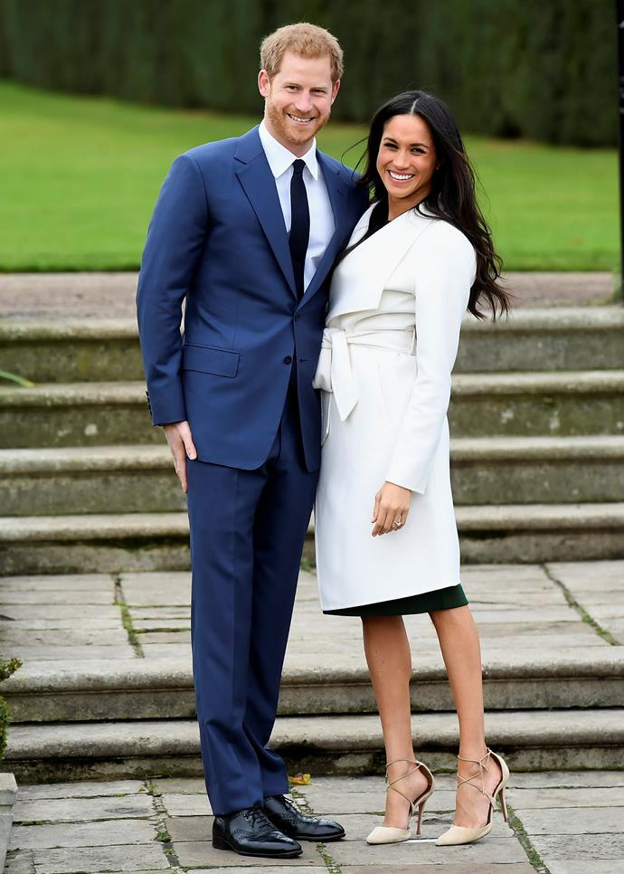 """Of course, no one would then forget the moment that came two months later - Meghan and Harry [announced their engagement](https://www.nowtolove.com.au/prince-harry-and-meghan-markle-engagement