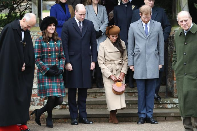 And the debut moment we'd all been waiting for, Meghan attended the annual Christmas Day church service alongside Kate, Wills and her fiancee Harry - and thus, the origins of the Fab Four commenced.