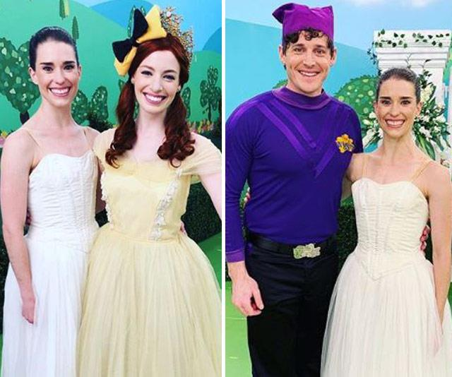 "Back to where it all started: Dana shared these photos back in December 2018, after working with both Emma and Lachy for a Wiggles' DVD special. <br><br> ""What an amazing group of people we had the pleasure of working with today, The Wiggles! I'm absolutely in awe of their talents and humbled by their kindness. Also, can never thank them enough for giving me the best street cred going around the daycare scene - perhaps the only time in my life I'm going to be a cool mum,"" she wrote at the time.  <br><br> If only she knew what was to come!"