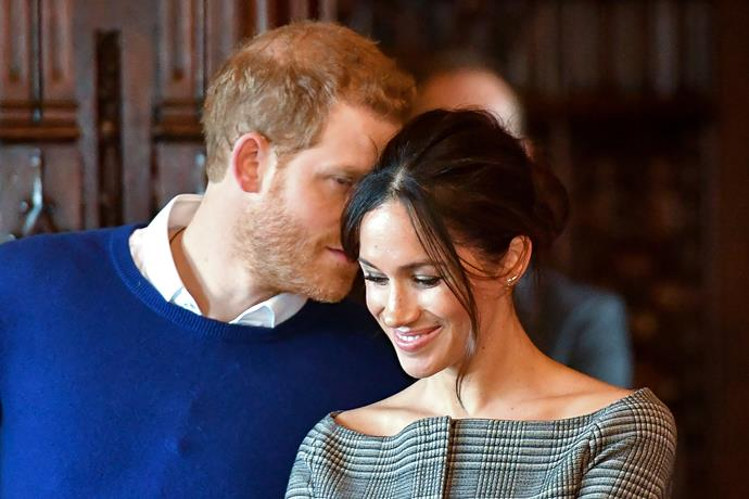 And thus *also* began the age of the royal PDA - spearheaded unknowingly by Meghan and Harry. During an official visit to Cardiff, south Wales in January 2018, the pair couldn't have looked more in love.