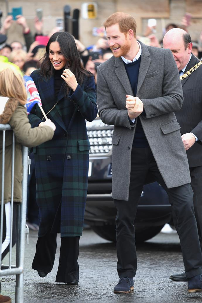 Of course, we couldn't have a Meghan and Harry gallery without *this* tartan moment that further instilled our belief that Markle is a fashion influencer for the ages. We'll just be over here waiting for winter and recreating this dream Burberry look in the meantime.