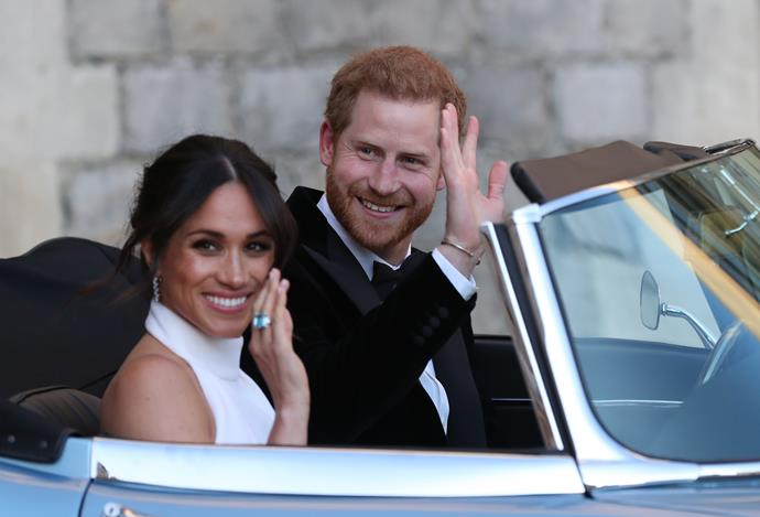 Of course, we can't forget her *second* outfit of the day either - the newly minted Duchess opted for a chic high neck Stella McCartney design, accessorised simply with an aquamarine ring that once belonged to her late mother-in-law, Princess Diana.