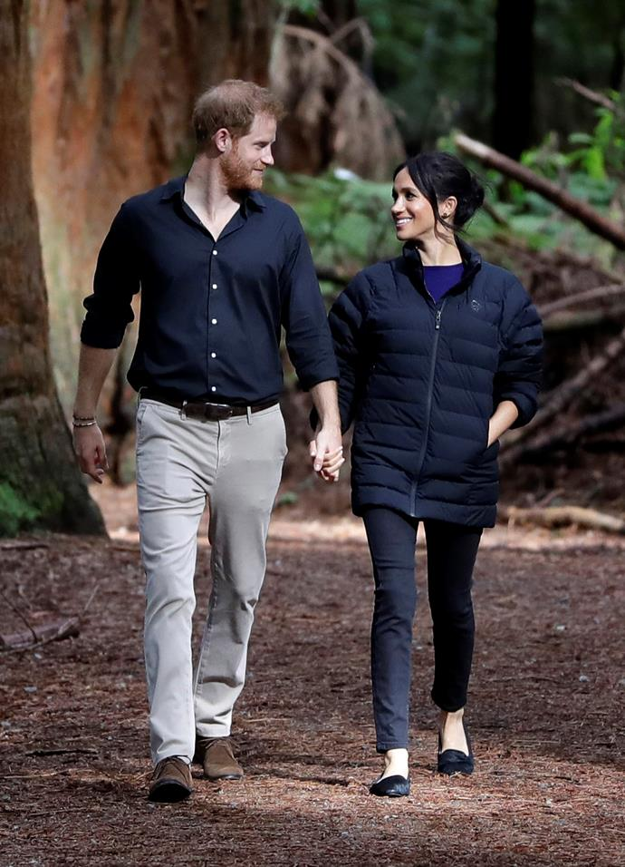 During the same leg of their royal tour Down Under, Harry and Meghan visited New Zealand, where their wholesome forest walk in Rotorua became synonymous with the couple's shared love for the environment. You'll probably recognise this iconic backdrop in the promotional imagery they've since shared as they continue to support environmental causes.
