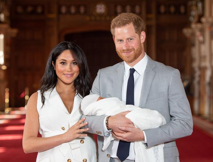 """Lo and behold, on May 6, the pair welcomed their first child - a boy named [Archie Harrison Mountbatten-Windsor](https://www.nowtolove.com.au/royals/british-royal-family/meghan-harry-archie-name-clue-quit-62158