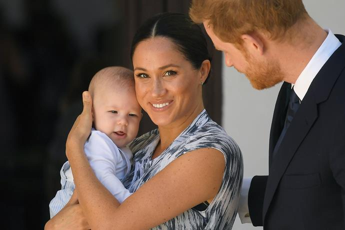 """In a surprise move, Harry and Meghan made a public appearance with baby Archie during their royal tour of Africa in September 2019. As expected, fans immediately jumped on the 'who does he look like?' game - and we couldn't help but noticed some [*striking* similarities](https://www.nowtolove.com.au/royals/british-royal-family/archie-hair-colour-57669