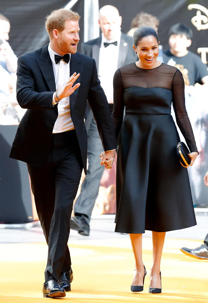 In a serendipitous return to the red carpet, Meghan took a short break from maternity leave in June 2019 to attend the premiere of the Disney live action remake of *The Lion King*. Wearing a heavenly Jason Wu design, there was no denying that new-mum glow from the Duchess.