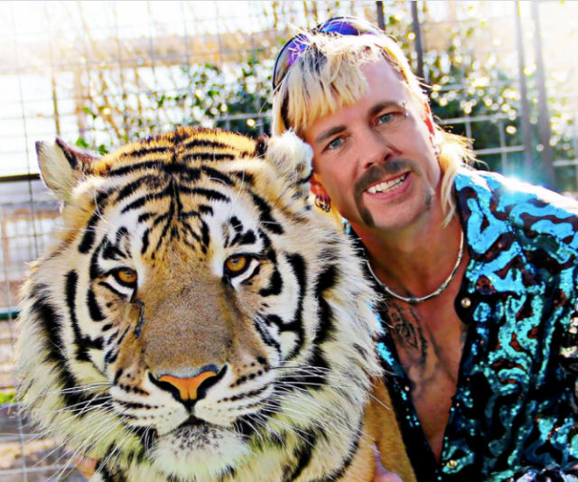 "**Joe Exotic** <br><br> One of the most colourful and unusual characters we've seen, it would take a truly special someone to play Joe.  <br><br> A valid point is made by one fan, ""there is no living actor who could capture such a level of cooked.""  <br><br> Actor **Dax Shepard**, however, believes he's made for the part. The star and husband of Kristen Bell tweeted: ""If I don't get cast as Joe Exotic in the eventual biopic, Hollywood is broken."""