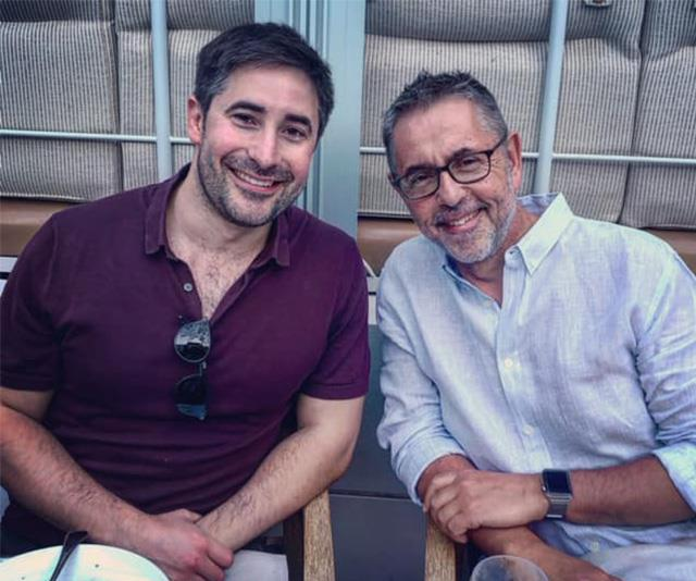 US political reporter Jonathan Swan and his father Dr Norman Swan.