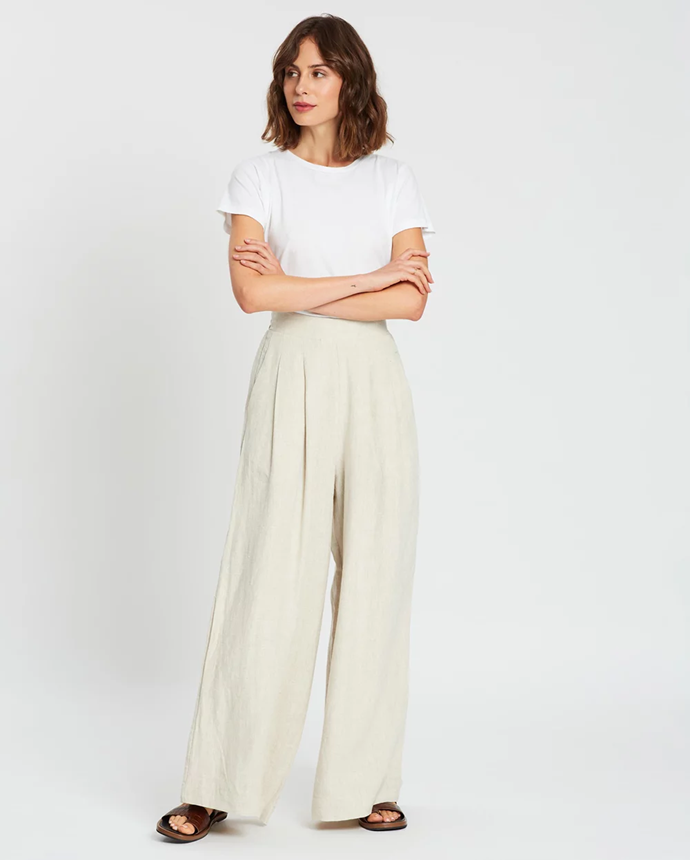"**Aere pants via The Iconic, $119**  Feel relaxed and free in wide leg pants – next best thing to track pants, but far more professional.  [Buy it online here.](https://www.theiconic.com.au/wide-leg-pants-1005160.html|target=""_blank"")"