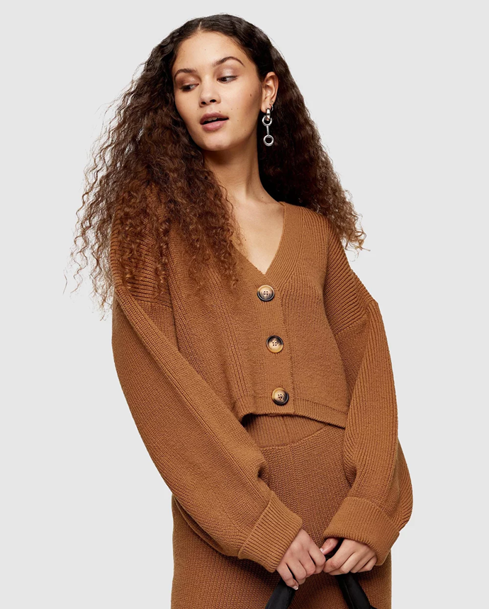 "**Topshop cardigan via The Iconic, $59.95**   We all need that easy, cosy cardigan for home, and this one is chic while still keeping you warm and comfortable.   [See it online here.](https://www.theiconic.com.au/knitted-cardigan-1071014.html|target=""_blank"")"