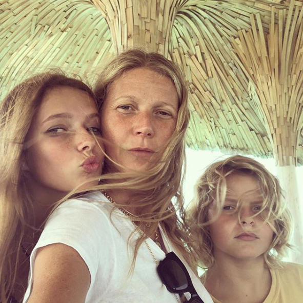 The new picture is a rare gem for fans - the last time Gwyneth shared insight into her family life was in May 2019 with this vacation pic.