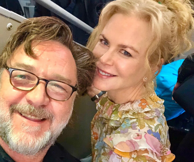 Russell Crowe, pictured here with fellow Aussie Nicole Kidman, in a candid Instagram snap last year.