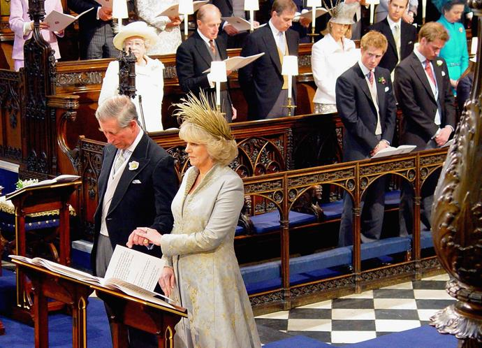 On April 9, 2005 Prince Charles and Duchess Camilla tied the knot in a civil ceremony at Windsor Guildhall. The royal pair were joined by their nearest and dearest for the event, which was broadcast by the BBC.