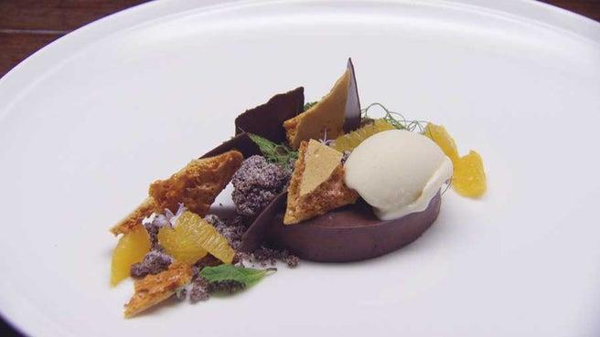 "Talking of his chocolate and orange rosemary dessert, Reynold admitted to *Pop Sugar*: ""being able to put that up in front of Marco, and get that compliment from him, meant the world to me""."
