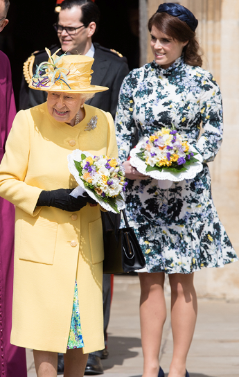 Last year, the Queen wore bright buttercup yellow to the Maundy Thursday service.