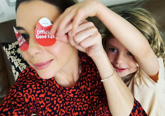 Kate shared a candid photo of herself and daughter Mae with a simple plea to donate blood this Easter.