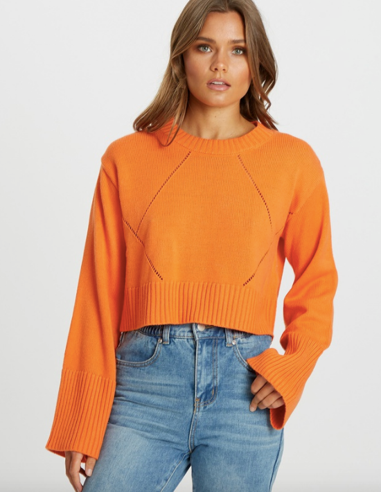 """CALLI Maria Cropped Jumper, $79.95. [Buy it online via The Iconic here](https://www.theiconic.com.au/maria-cropped-jumper-1063508.html