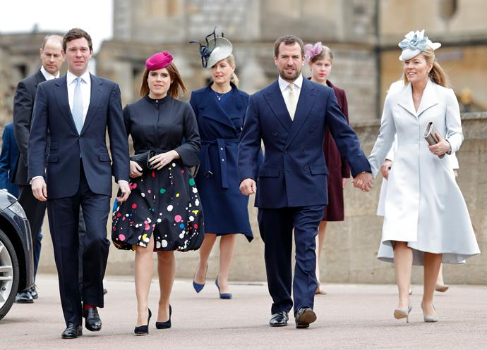 The Firm were back on their royal stomping ground for Easter in 2018, which proved as fashionable as ever. Eugenie's surprise dotty creation was a definite standout.