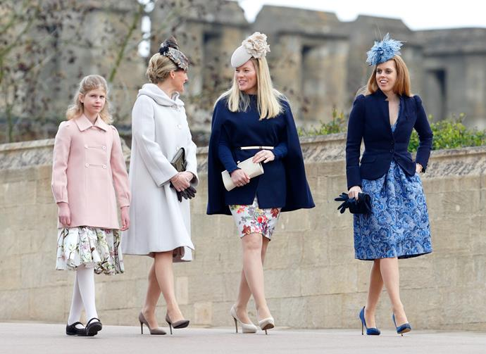In 2015, Sophie joined Autumn Phillips and Princess Beatrice along with her daughter Lady Louise in a floral-clad spectacle.