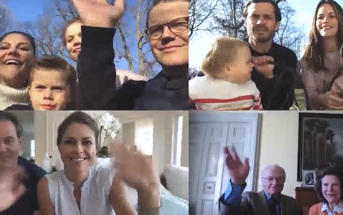 The Swedish royals shared a sweet video chat the family shared to celebrate Easter.