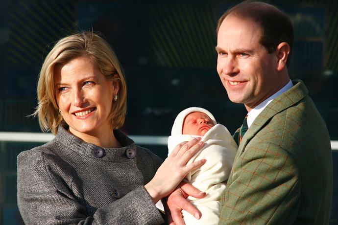 Then in December 2007, their son James Viscount Severn joined the family.
