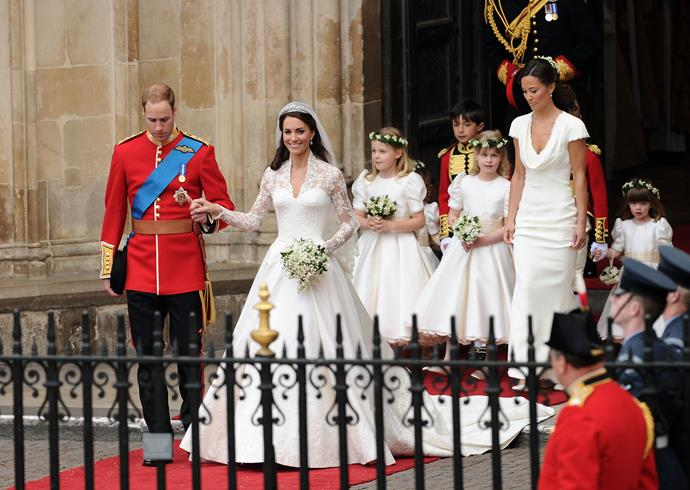 Lady Louise had a starring role at her cousin Prince William's wedding to Kate Middleton back in 2011.