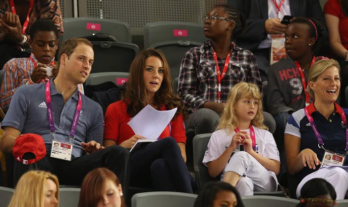 The royal relatives spent a lot of time together at the London 2012 Olympics.