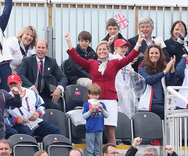 The Wessexes cheer on the British rowing team with Duchess Catherine.