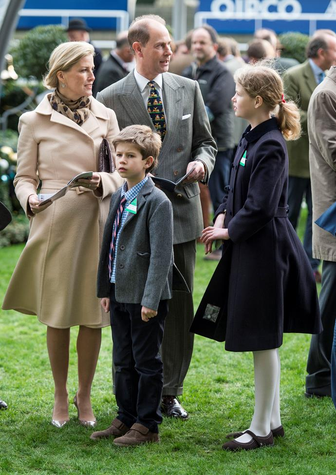 The family are regulars at events including Royal Ascot.