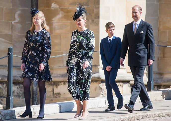 Sophie and Louise matched in floral prints for Easter 2019.