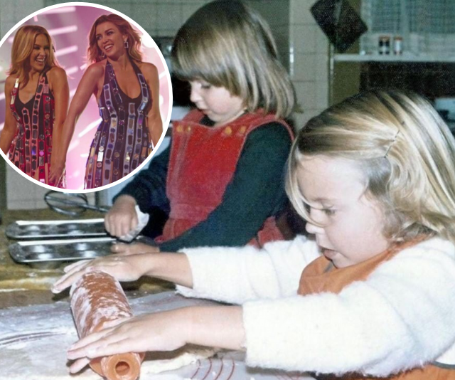 "Giving fans a little Easter treat was [Dannii Minogue, who shared a previously unseen photo of herself with sister Kylie](https://www.nowtolove.com.au/celebrity/celeb-news/dannii-minogue-birthday-kylie-minogue-59861|target=""_blank"") when they were kids. <br><br> ""This pic is me and @KylieMinogue cooking up a storm at our Nain's house when we were little. What will you be whipping up for Easter this year and will your little ones be giving you a hand in the kitchen?"" she wrote."