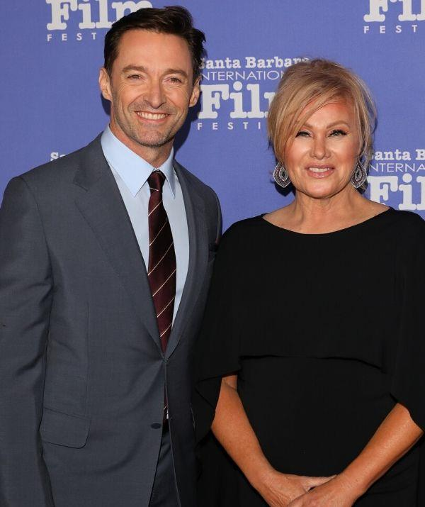 """**HUGH JACKMAN, 52, & DEBORRA-LEE FURNESS, 65: 13 YEARS**  <br><br> """"Anyone that knows Deb, literally, I am the old fuddy-duddy of the relationship,"""" Hugh says of their dynamic."""