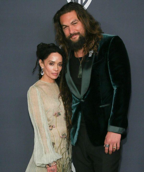 """**LISA BONET, 53, & JASON MOMOA, 41: 12 YEARS**  <br><br> """"Ever since I was, like, eight years old and I saw her on *The Cosby Show*, I was like, 'Mummy, I want that one,'"""" Jason admits."""