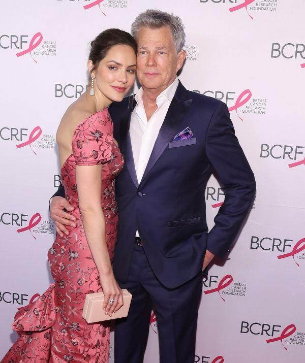 """**KATHARINE MCPHEE, 37 YEARS & DAVID FOSTER, 71: 35 YEARS**  <br><br> """"There goes my inheritance,"""" David's daughter Erin quipped when these two tied the knot."""