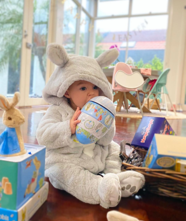 **Snezana and Sam Wood** <br><br> We cannot get enough of Snez and Sam Wood's bub, Charlie, celebrating her first Easter.