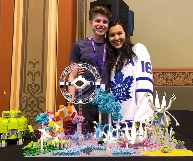 Miller and Kaitlyn even entered a Lego competition together.