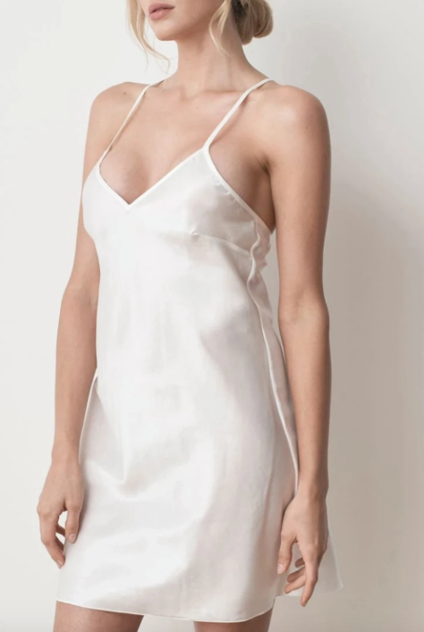 """A little nighty goes a long way, and this Ms Kensington number sums up the feat to perfection. Made with a silk and cotton mix, it's comfortable, breathable and easy to care for. $169, **[buy it online via FAID store here](https://www.faidstore.com/collections/lounge/products/ms-kensington-silk-slip-dress-ivory-white target=""""_blank"""" rel=""""nofollow"""")**"""