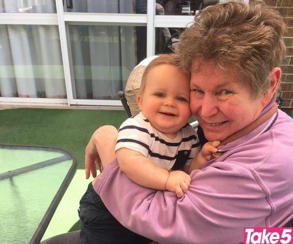 Mum adored her grandson Max.