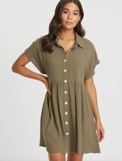 "Floaty, loose-fitting clothes is the name of the game right now, so this cute design by The Fated is perfect. $83.97, [buy it online via The Iconic here](https://www.theiconic.com.au/maribelle-shirt-dress-1024695.html|target=""_blank""