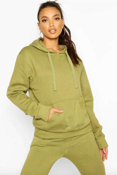 "Nothing like a trusty tracksuit! This Boohoo hoodie is comfy, affordable and perfect for snuggling up in as we hit 'play' for the umpteenth time on Netflix. $25, [buy it online here](https://au.boohoo.com/oversized-hoodie/FZZ84320.html?color=151|target=""_blank""