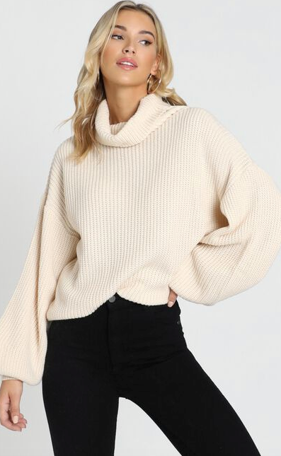 "Seriously, you can never have too many knits - that's why we're totally justifying another slouchy purchase like this Showpo design for the cooler months ahead. $69.95, [buy it online here](https://www.showpo.com/steam-ahead-knit-jumper-in-cream.html|target=""_blank""