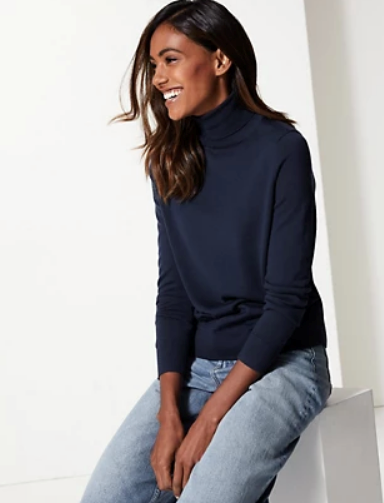 "Made from pure merino, this Marks & Spencer steal is a winter must-have, whether you're indoors or off to the shops. $75, [buy it online here](https://www.marksandspencer.com/au/pure-merino-wool-roll-neck-jumper--/p/P60194093.html|target=""_blank""