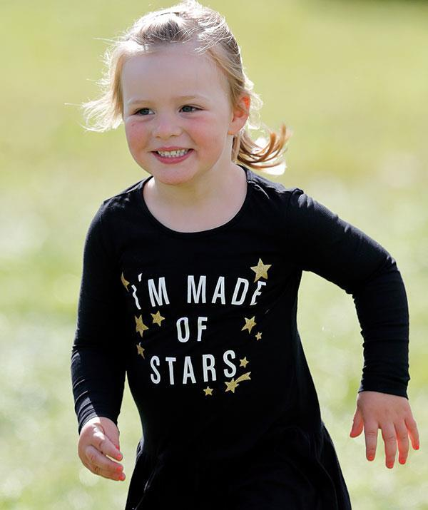 Anne loves playing outside with her grandchildren. Pictured: Mia Tindall.
