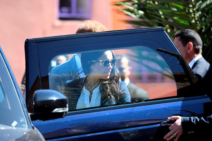 Harry and Meghan were spotted handing out special food deliveries in Los Angeles.