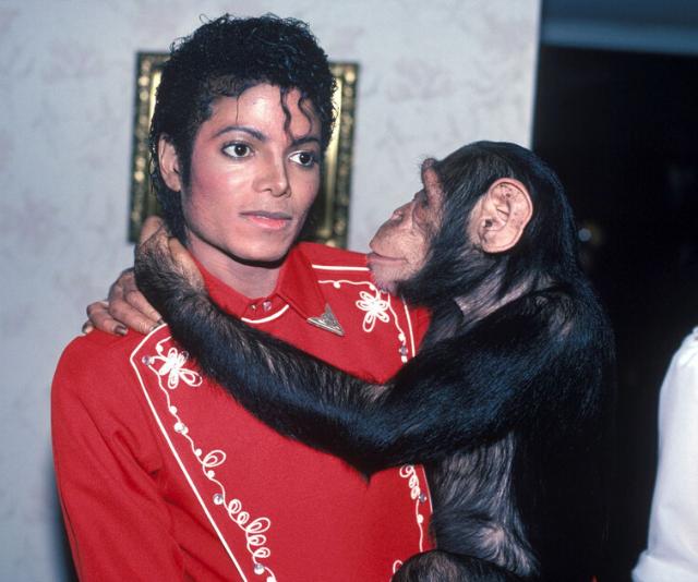 Michael Jackson and Bubbles.